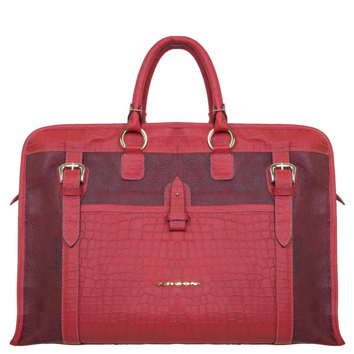Bolsa de Viagem Couro Vermelho