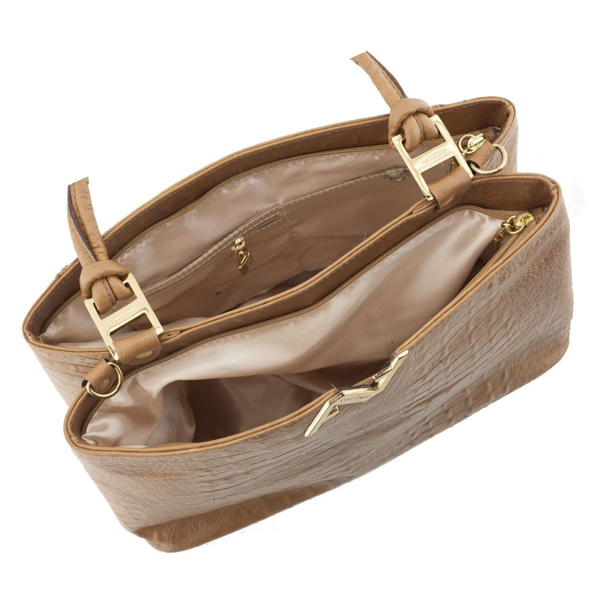 Bolsa em Couro Estruturada Caramelo