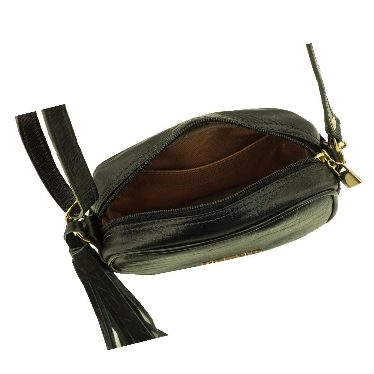 Bolsa em Couro Tiracolo Black
