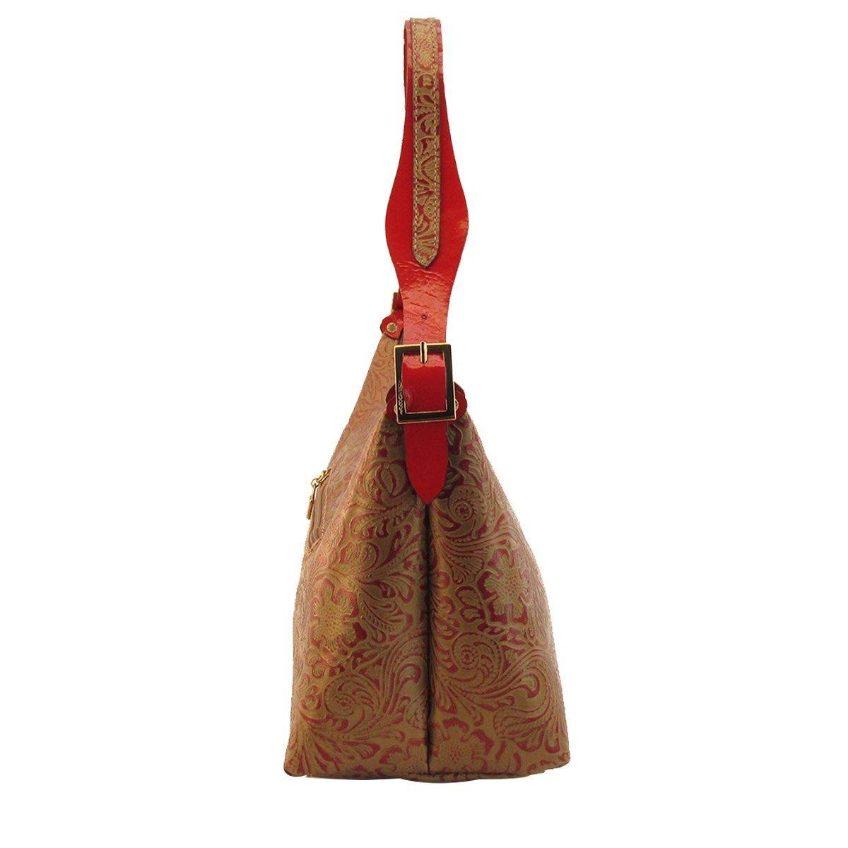 Bolsa em Couro uma Alça Vermelho