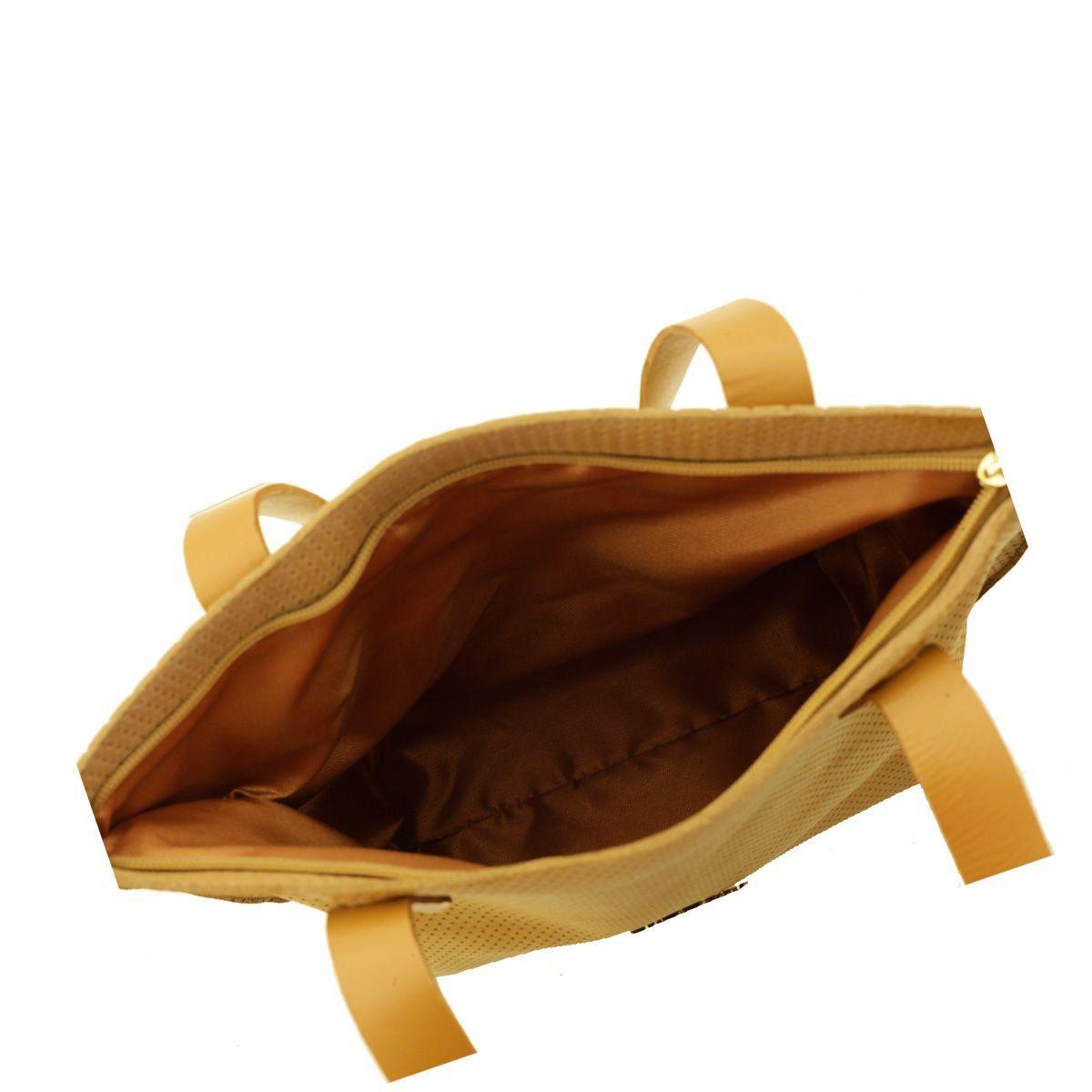 Bolsa Sacola em Couro Legítimo Leve Caramelo