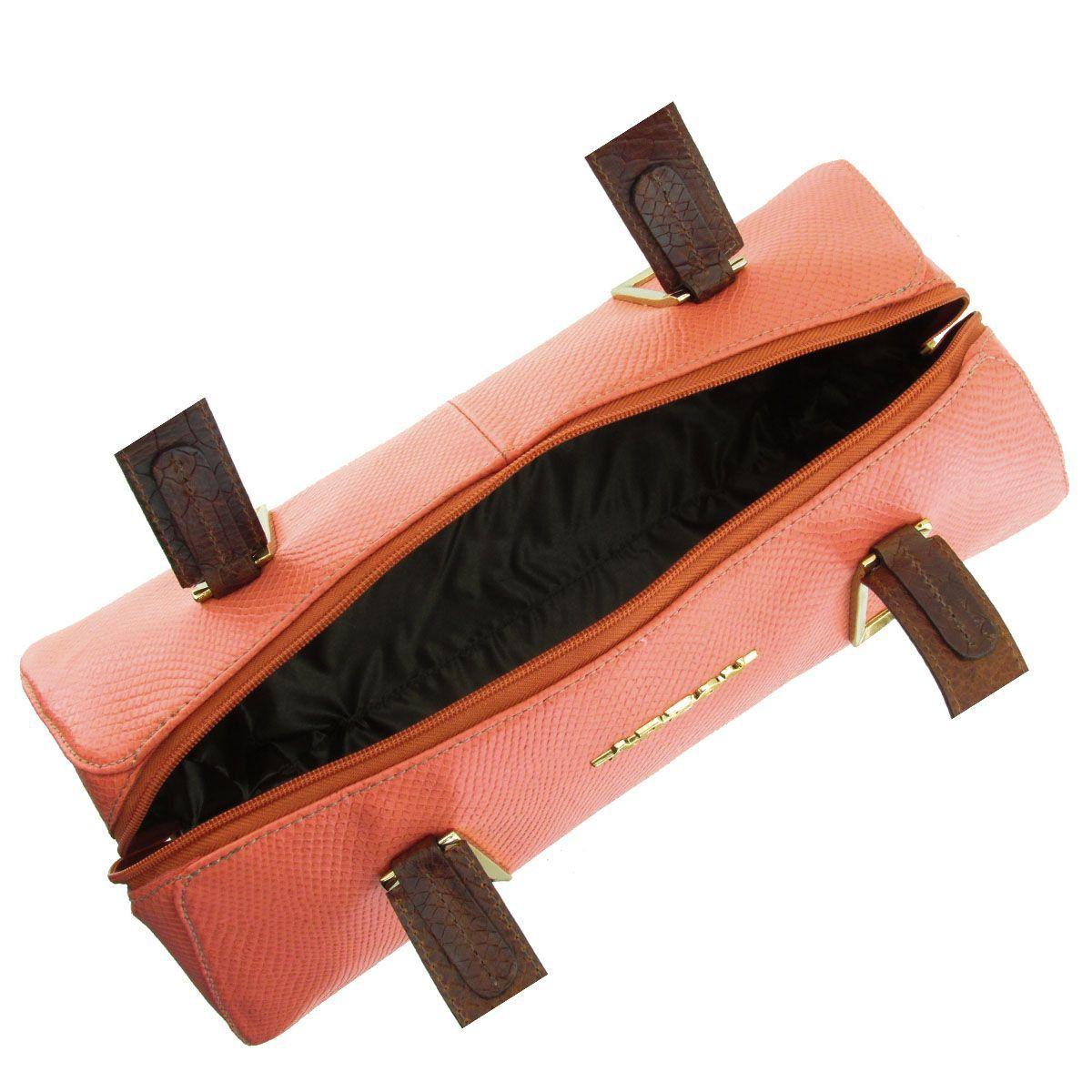 Bolsa Estruturada Feminina Salmão