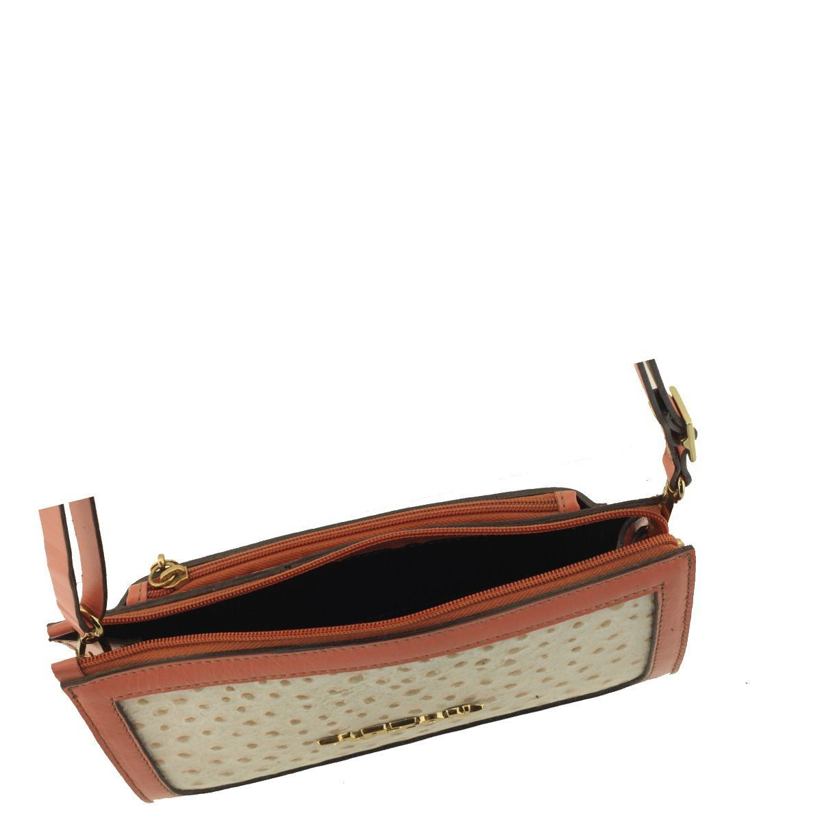 Bolsa Pequena em Couro Legítimo  Rosê