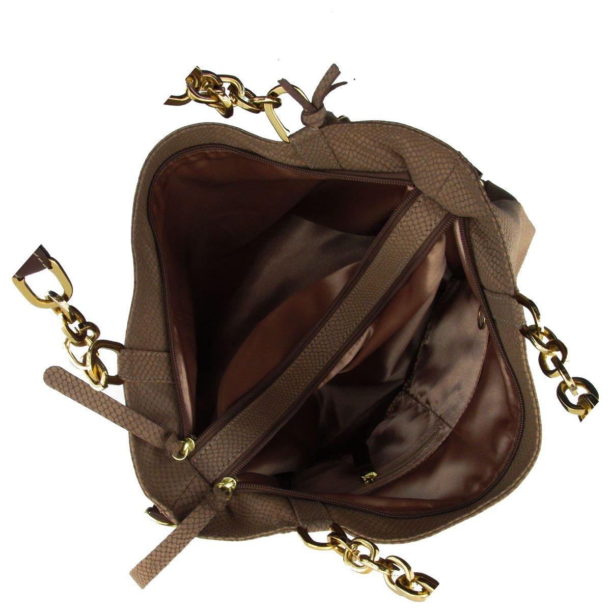 Bolsa Feminina com Corrente Chocolate