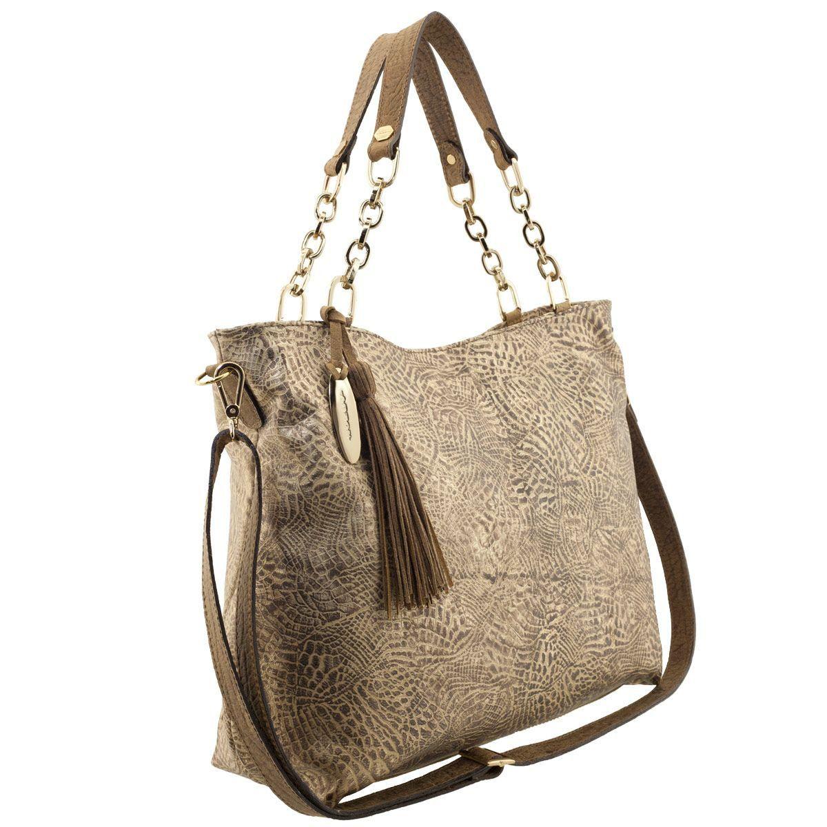 Bolsa Feminina com Corrente Dourada
