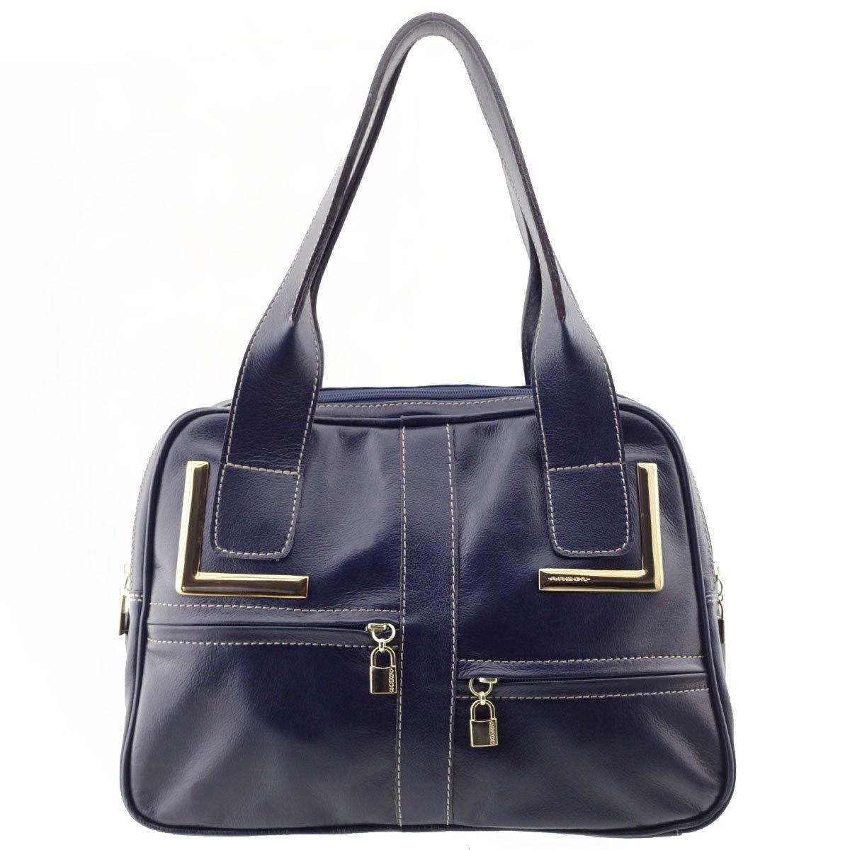 Bolsa Feminina com Divisões Azul