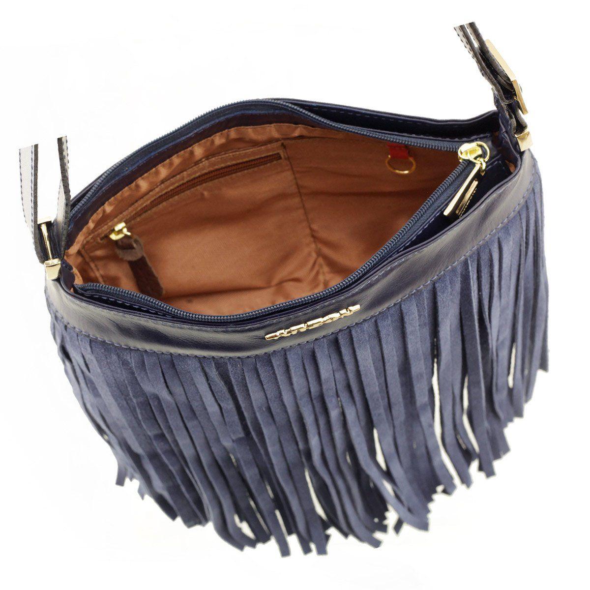 Bolsa Feminina com Franja Azul
