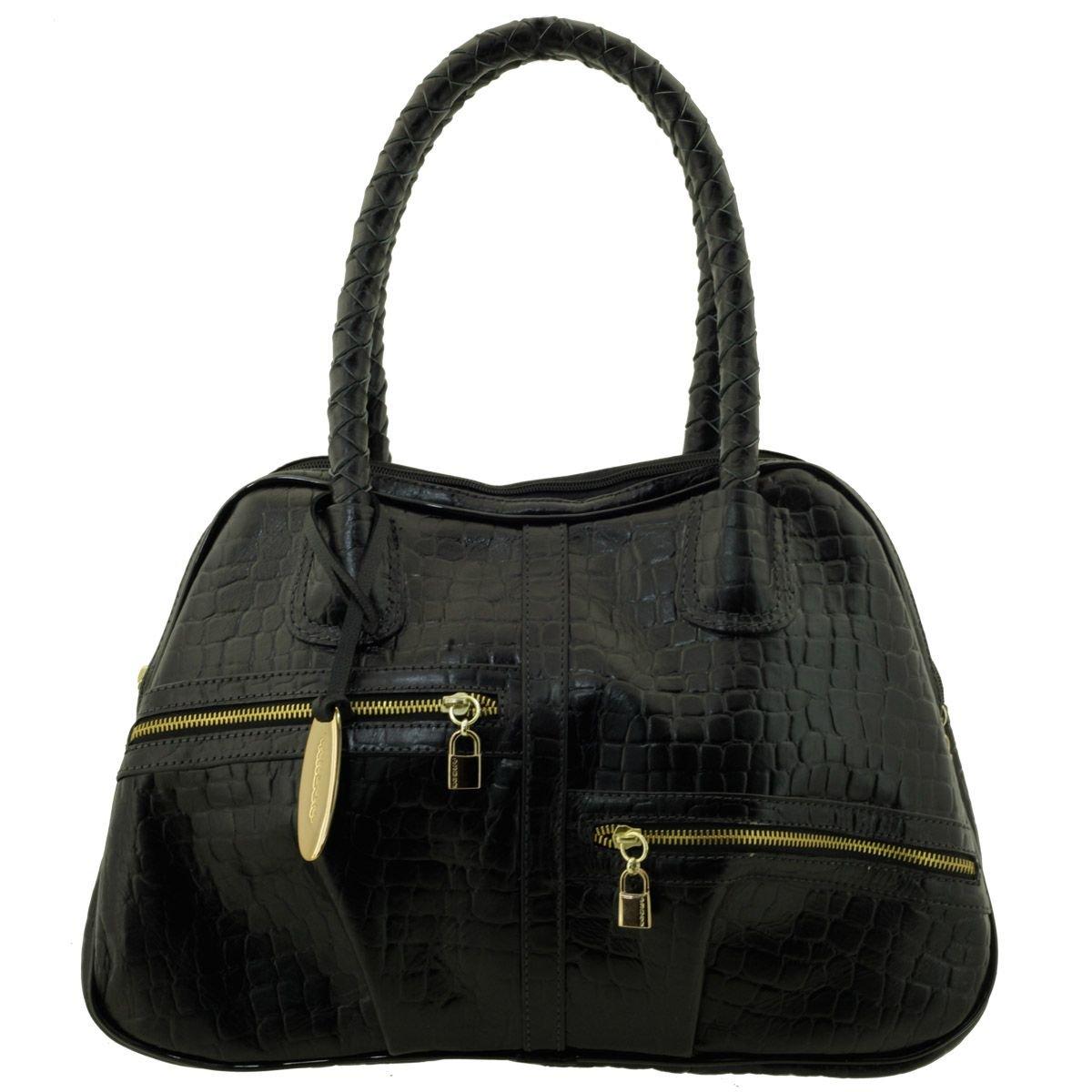 Bolsa Feminina Couro Black