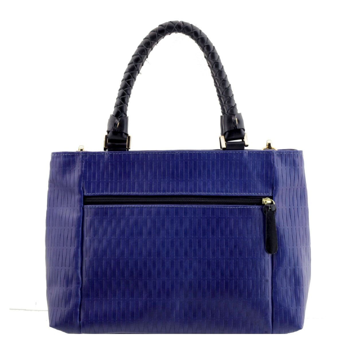 46ea909a8 ... Bolsa Couro Legitimo Tiracolo Azul - ARZON ...