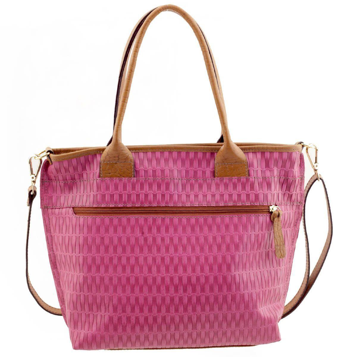 d5c5ab5a8 ... Bolsa Feminina de Couro Pink - ARZON