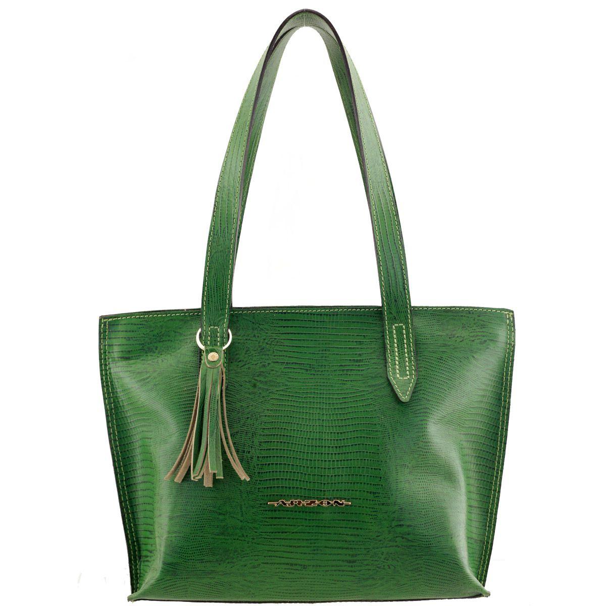 1d5706acf Bolsa Feminina de Couro Verde - ARZON ...