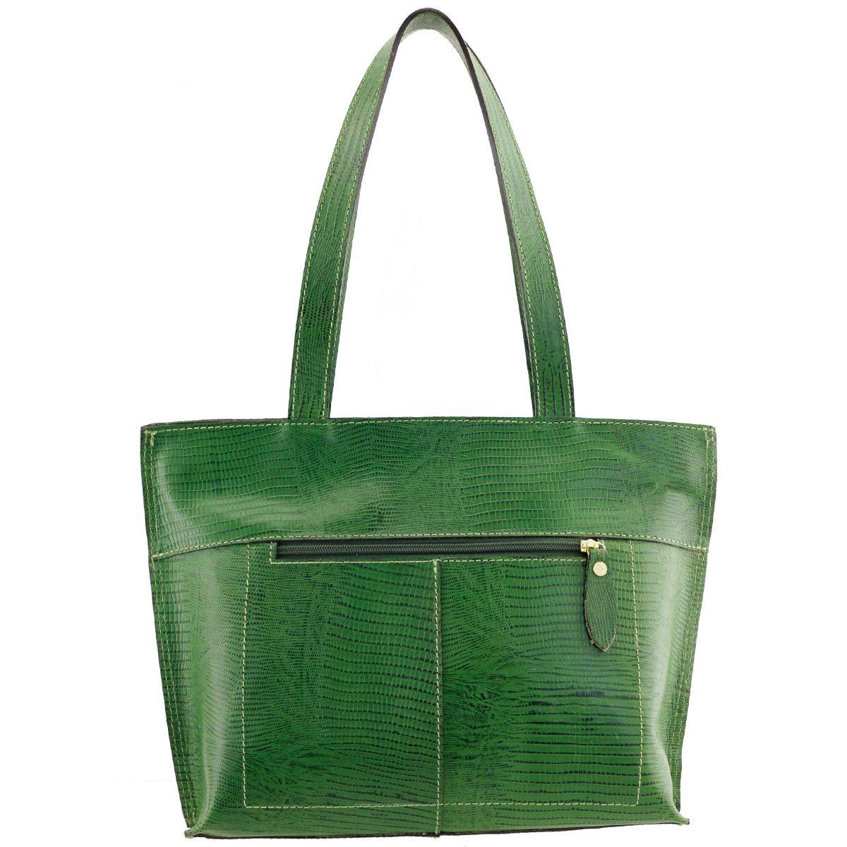 b7a0faebd ... Bolsa Feminina de Couro Verde - ARZON