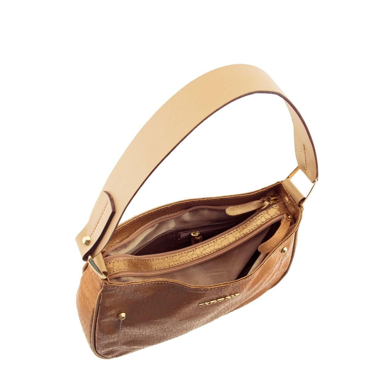 Bolsa Feminina de Ombro Bronze