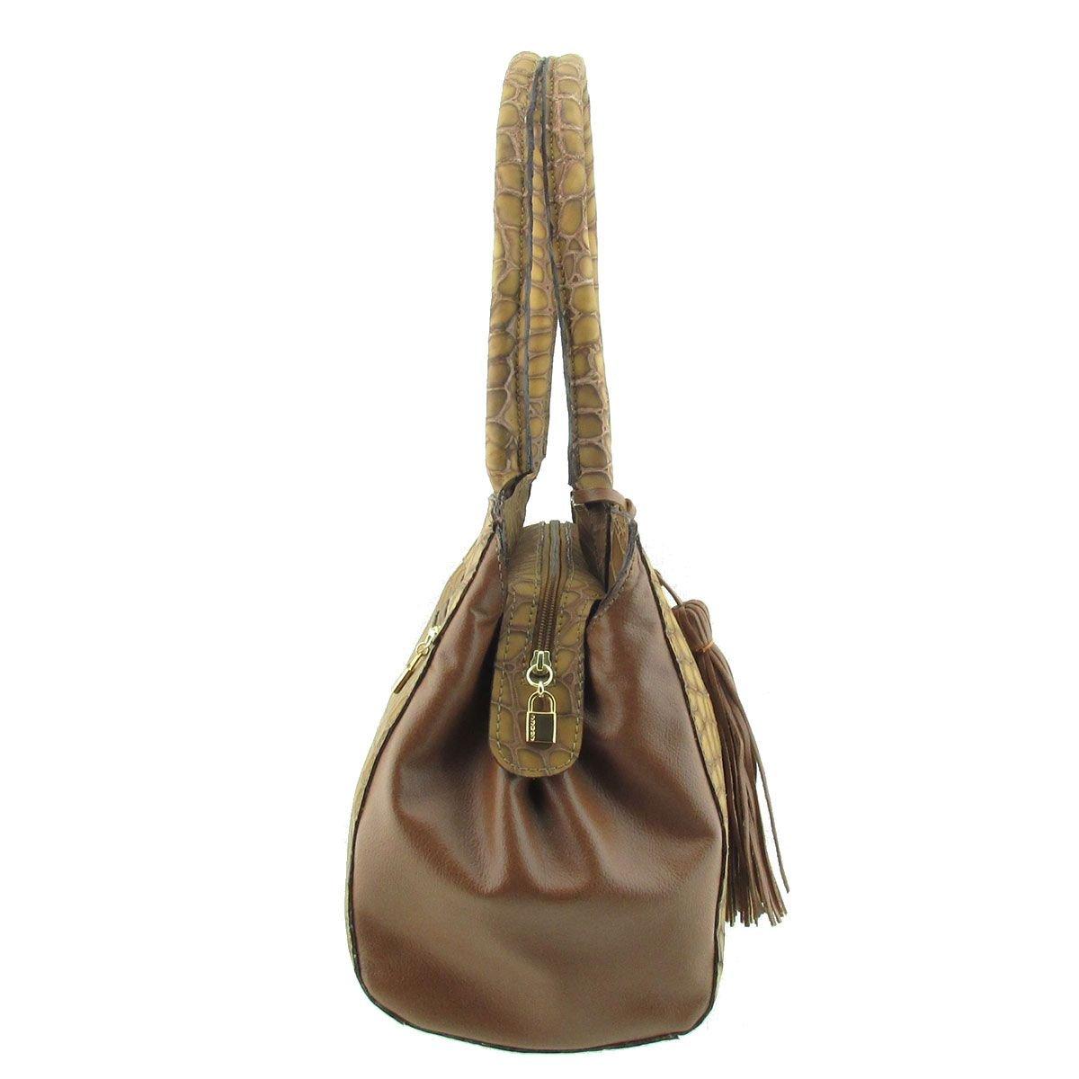 Bolsa Feminina Em Couro Camel