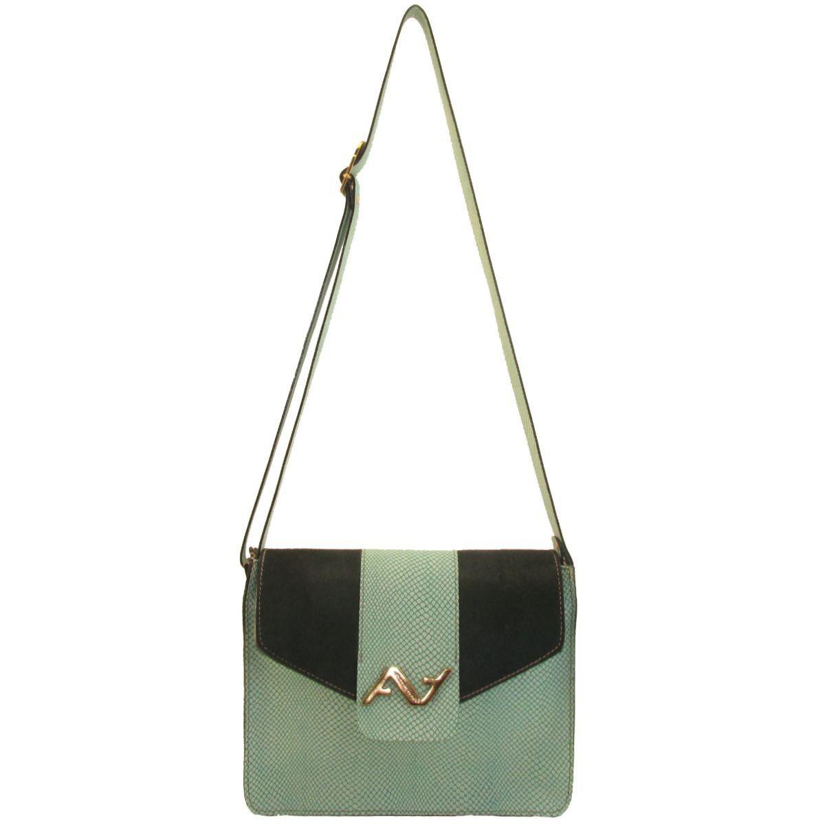 Bolsa Feminina em Couro Pêlo Verde