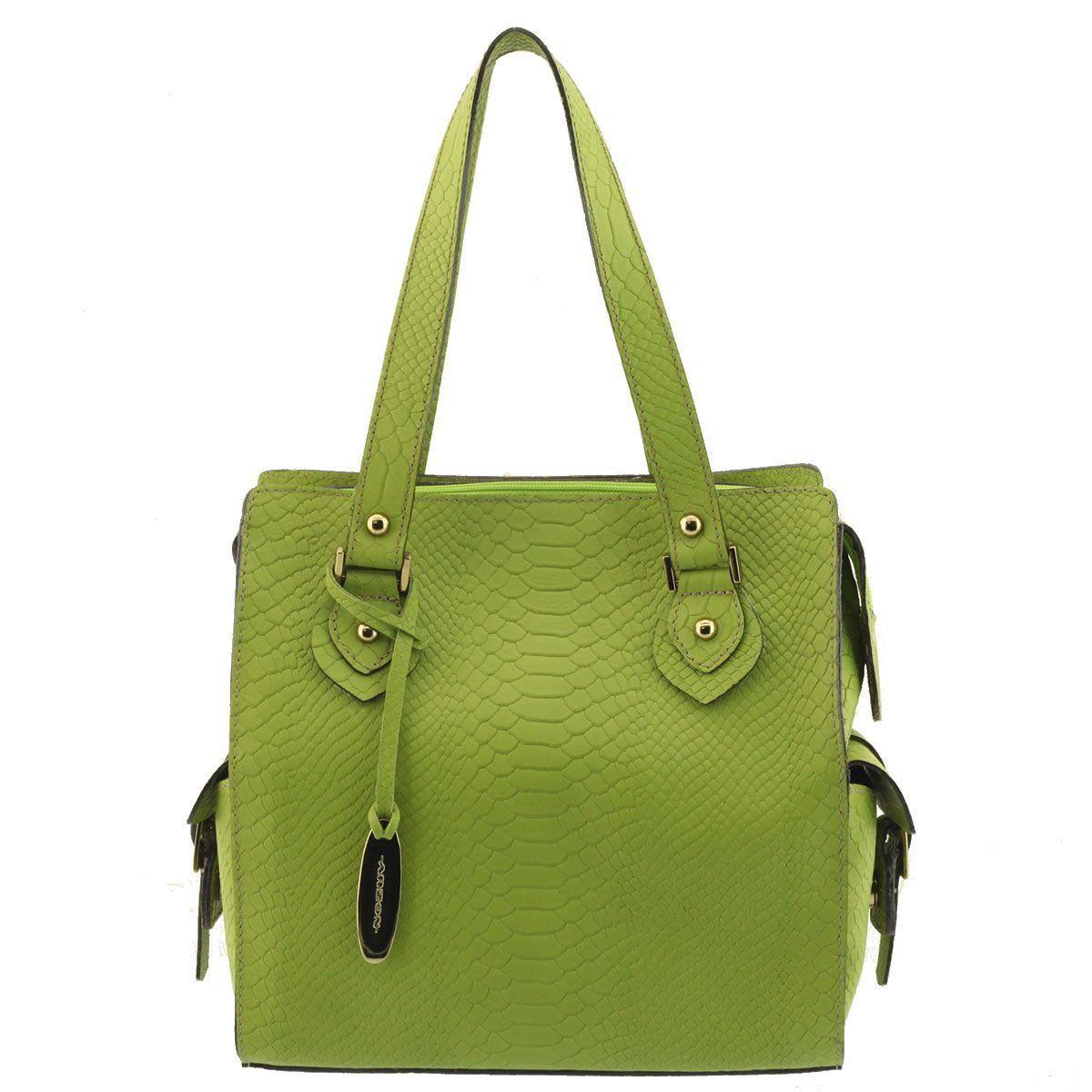 Bolsa Feminina Pequena Couro Verde