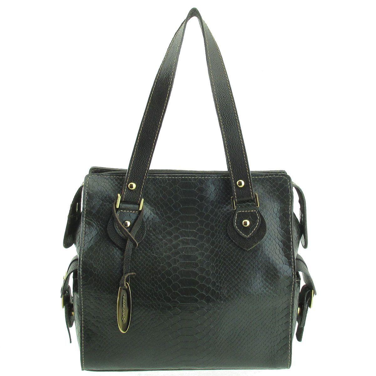 Bolsa Feminina Pequena Couro Verde Escuro