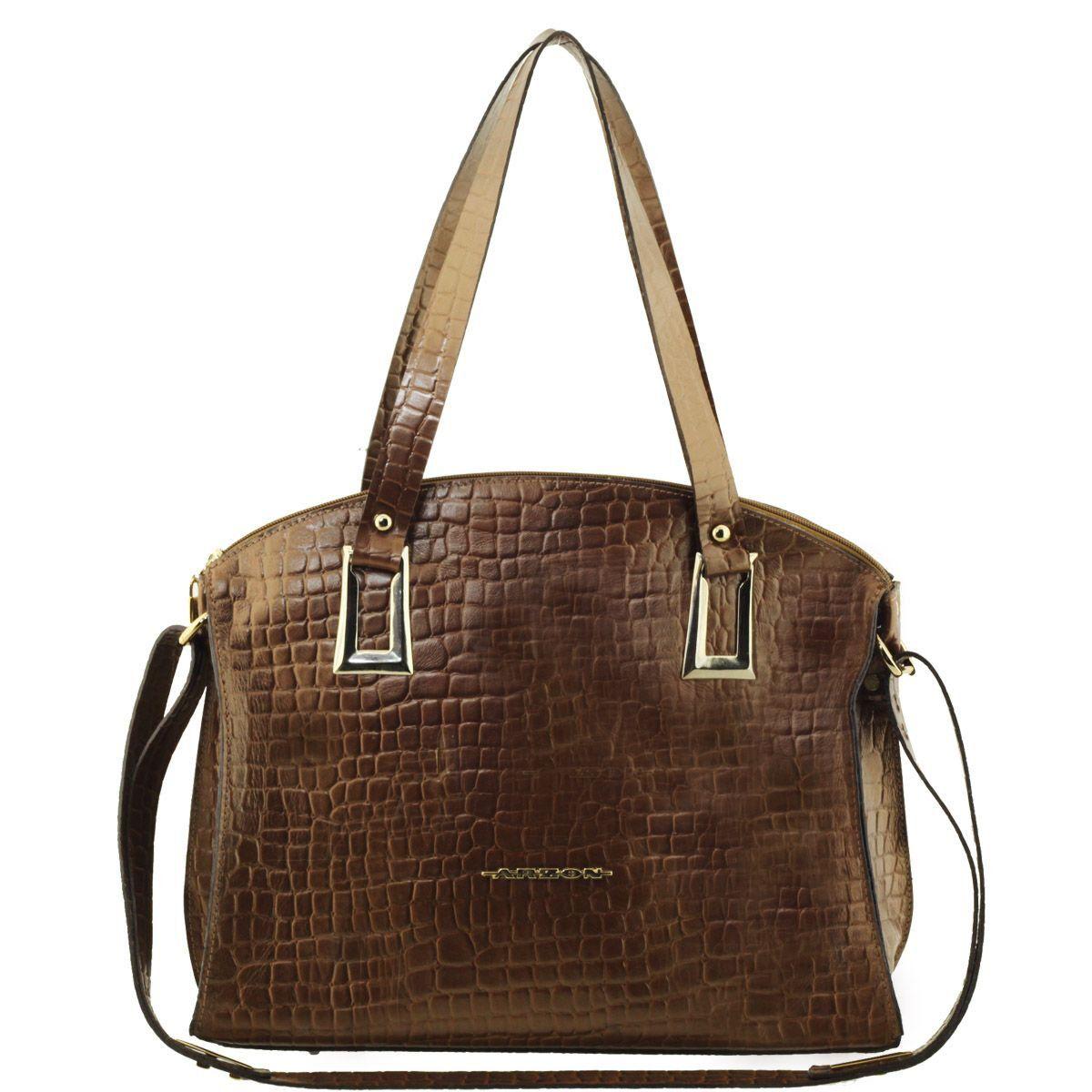 eb5cea31d Bolsa Feminina Grande Bronze - ARZON ...