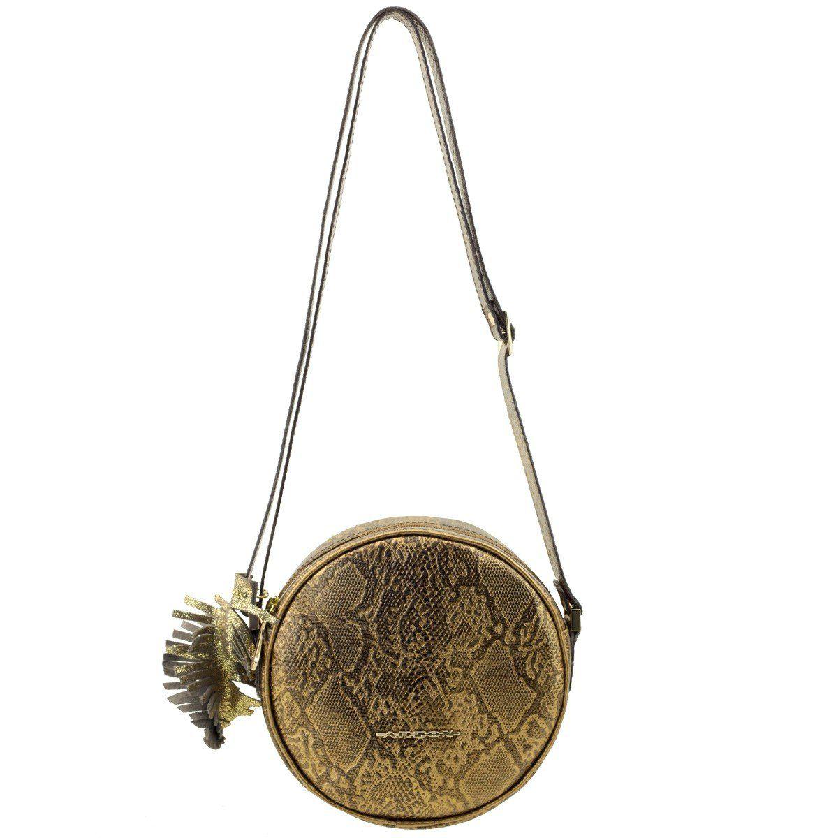 Bolsa Feminina Redonda Bronze