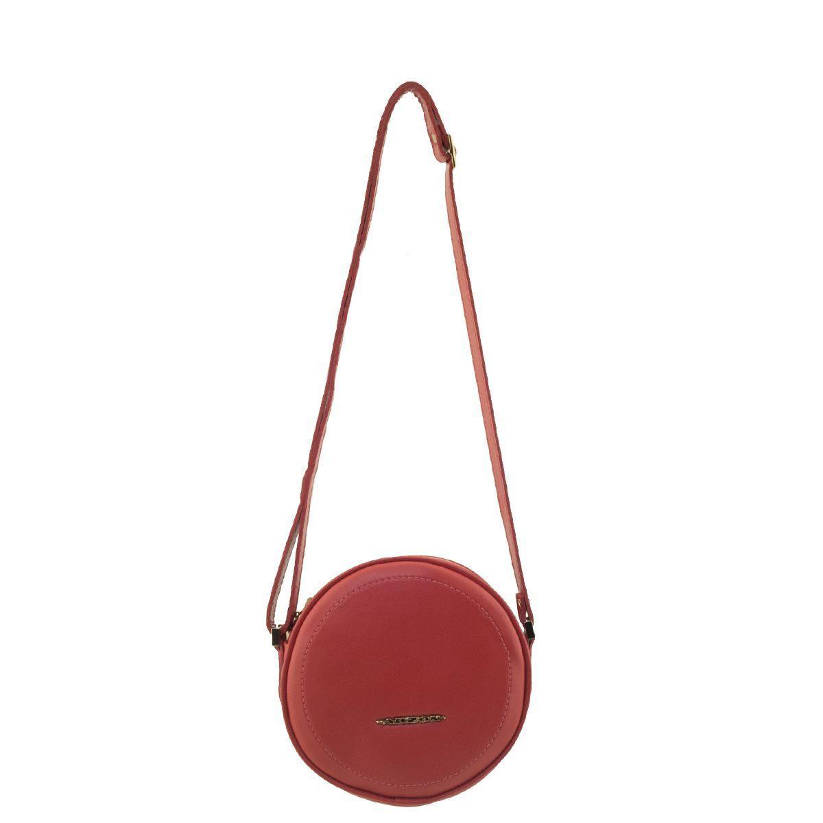Bolsa Feminina Redonda Vermelha