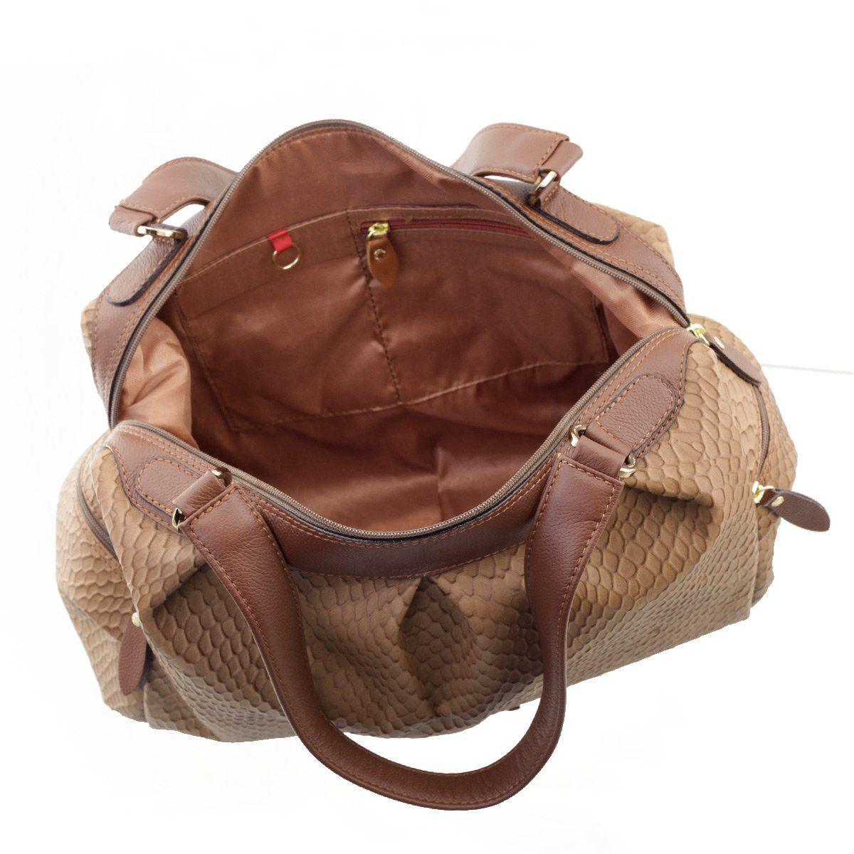 e0f99842a ... Bolsa Grande Couro Camel com Chocolate - ARZON ...