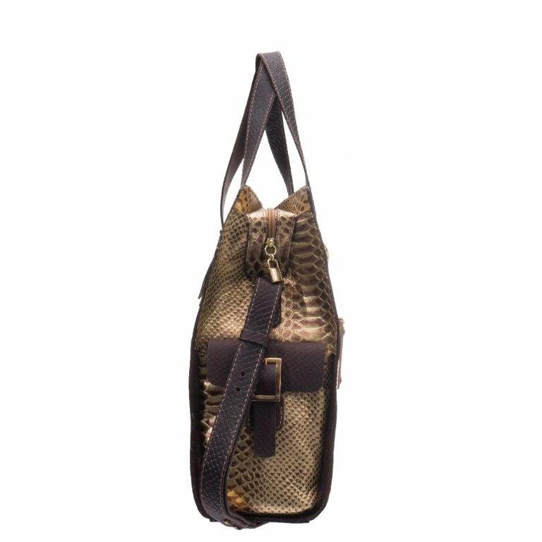 Bolsa Grande em Couro Bronze