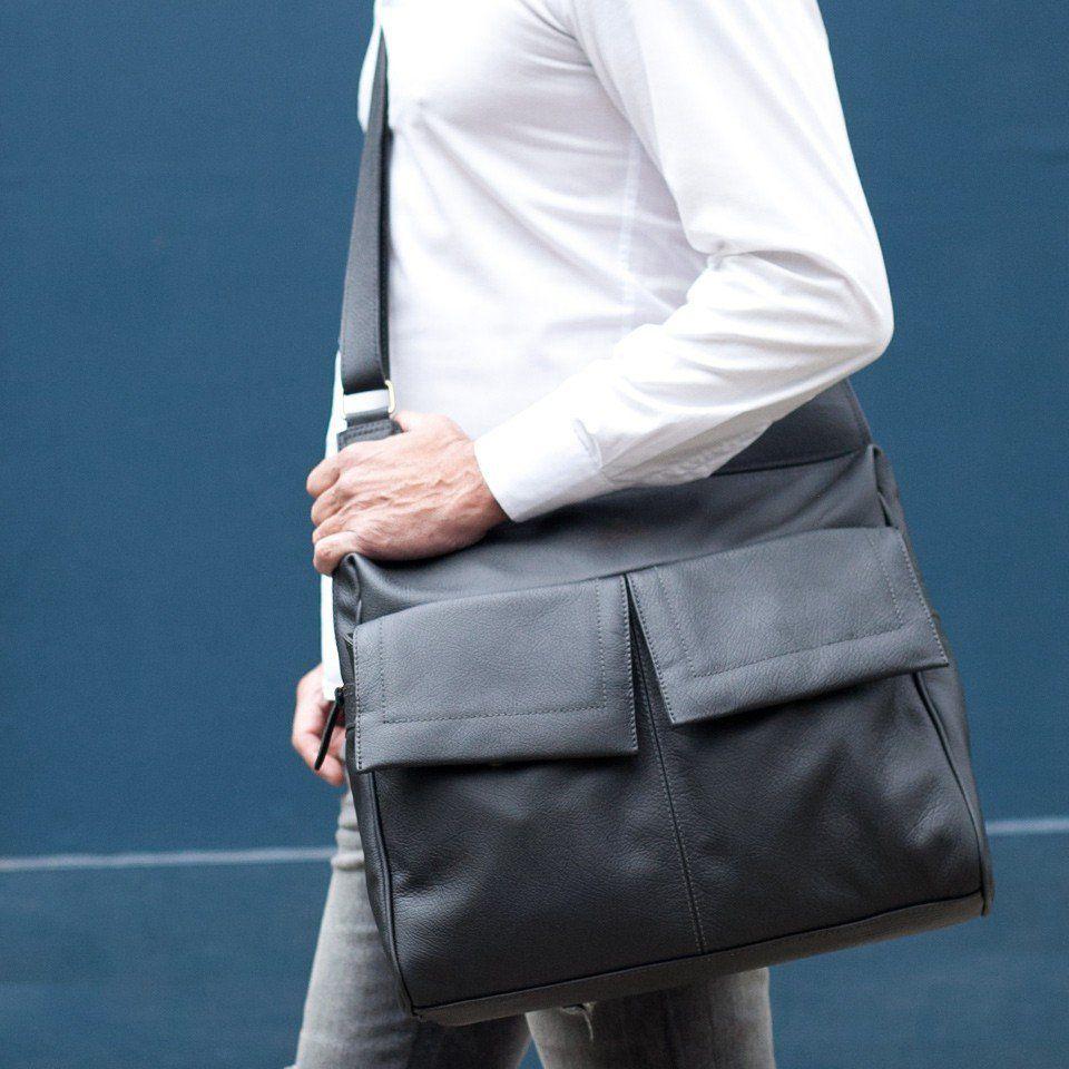 Bolsa Masculina para Notebook Azul Marinho