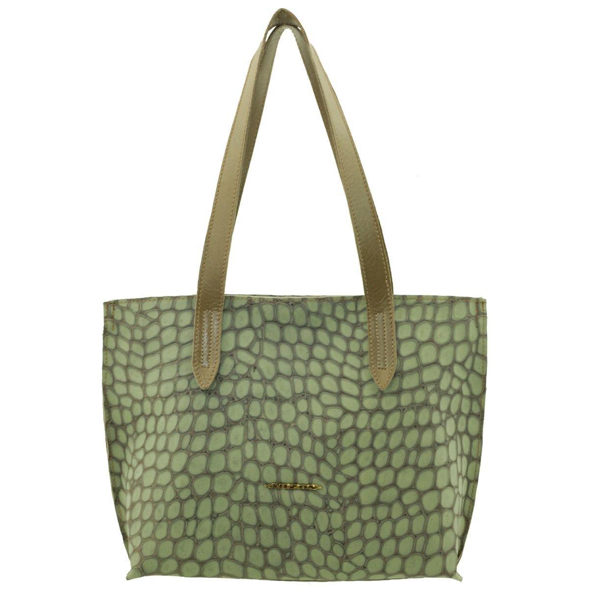 Bolsa Feminina de Couro Verde
