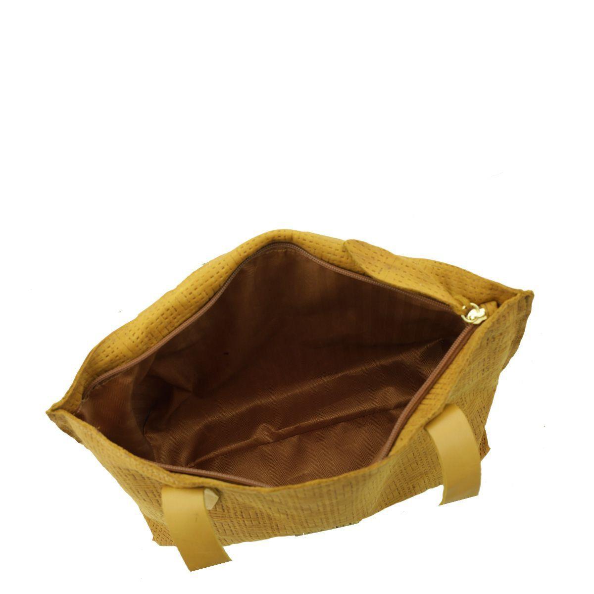 Bolsa Feminina de Couro Caramelo