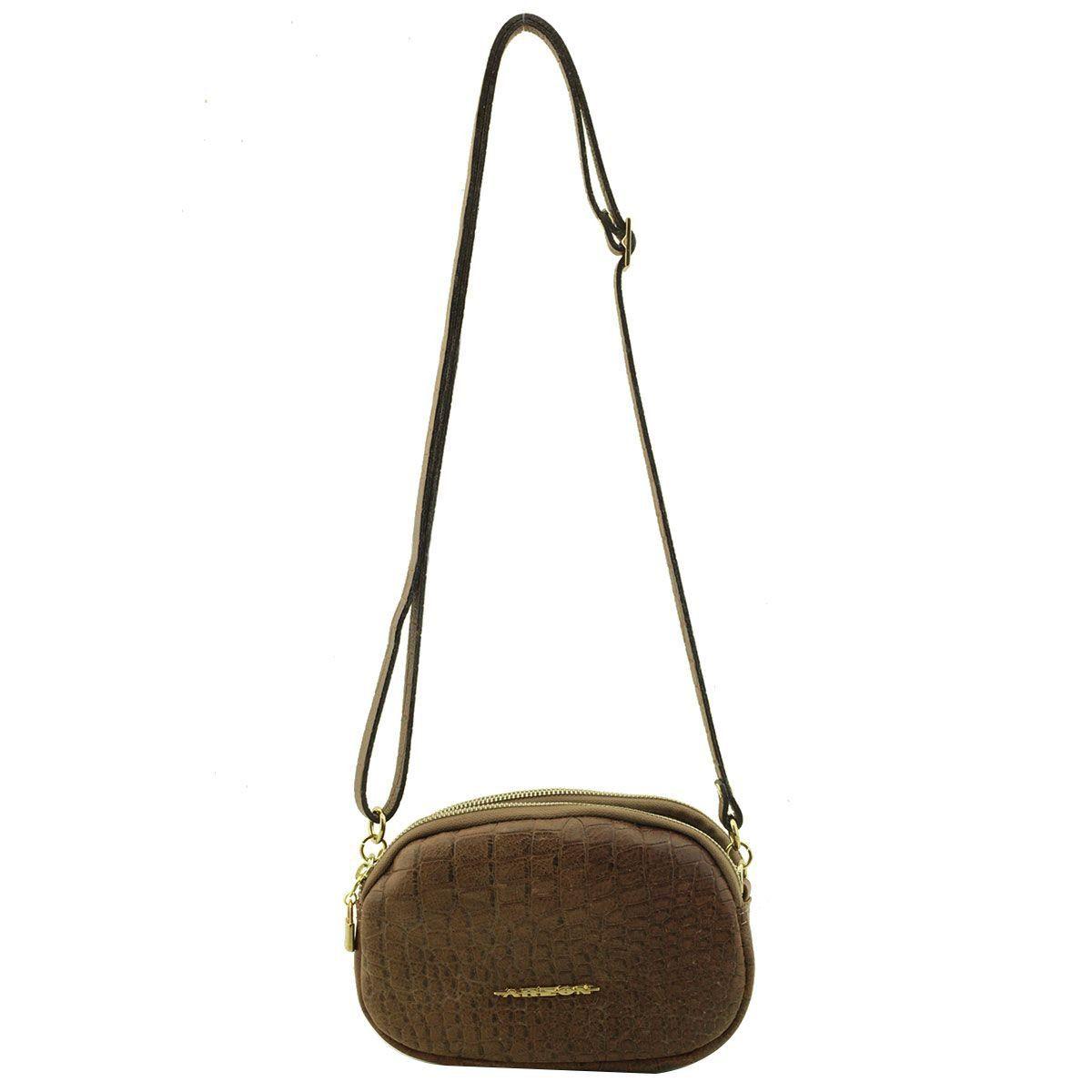 Bolsa Pequena com Divisórias Café