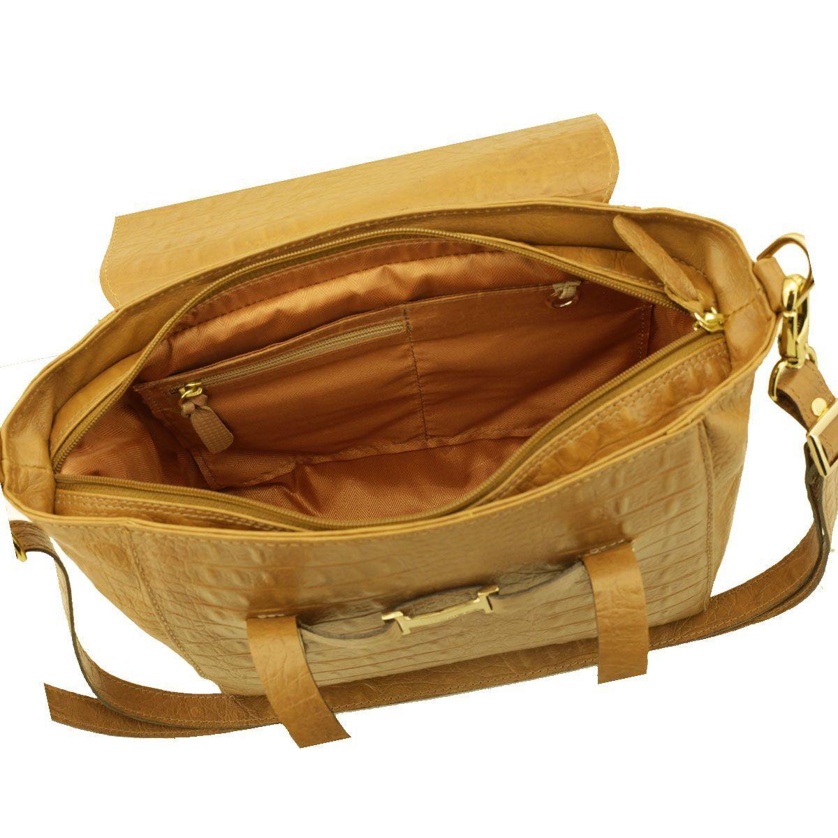 Bolsa Pequena Couro Caramelo