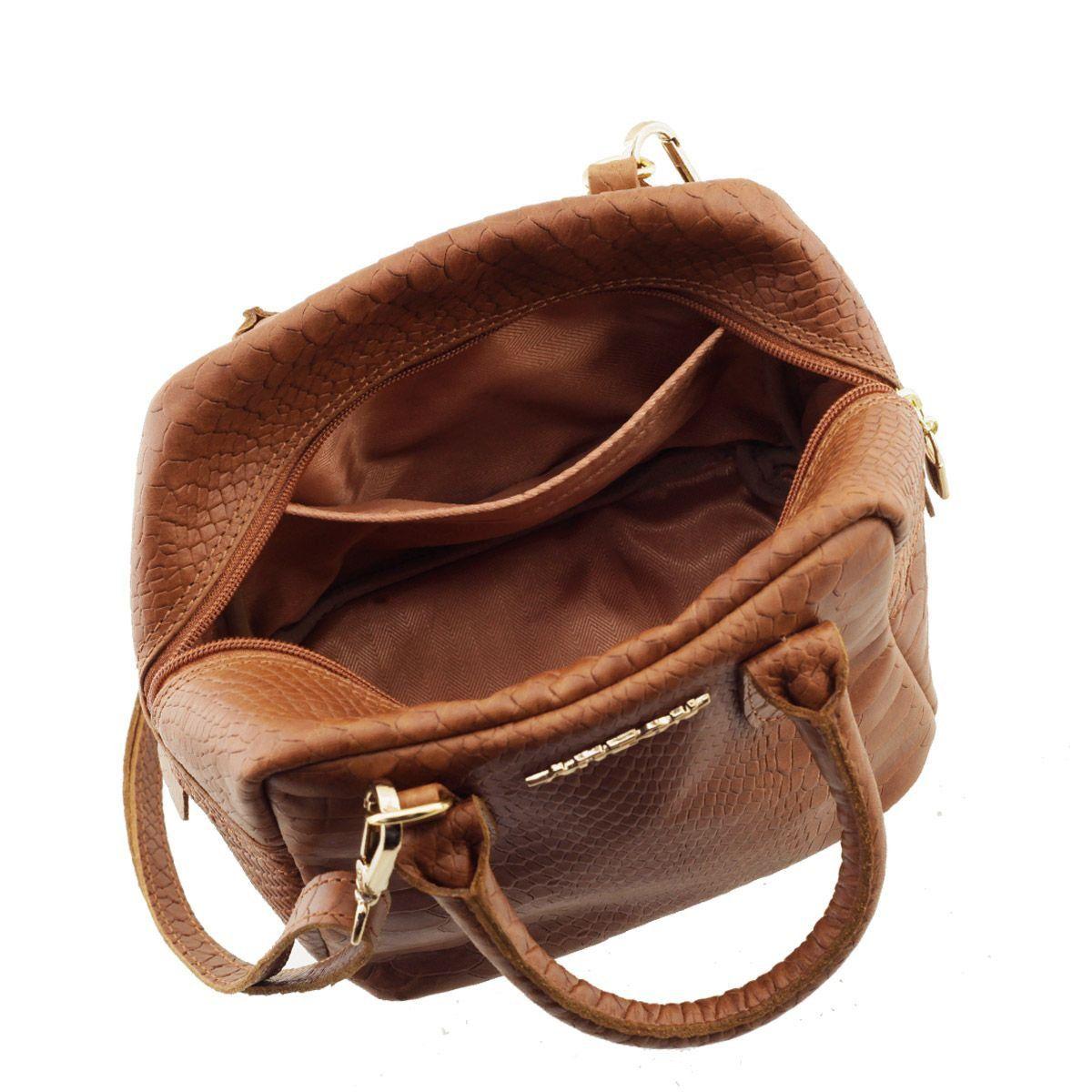 Bolsa Pequena de Mão Caramelo