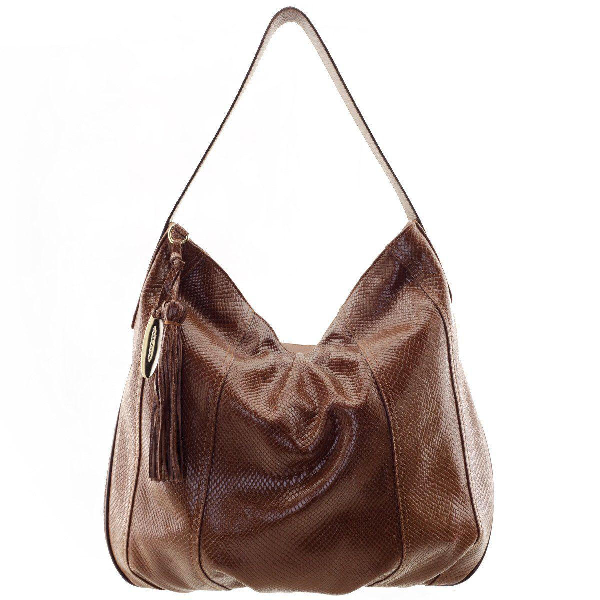 833cc7107 Bolsa Saco de Ombro Verniz Chocolate - ARZON ...