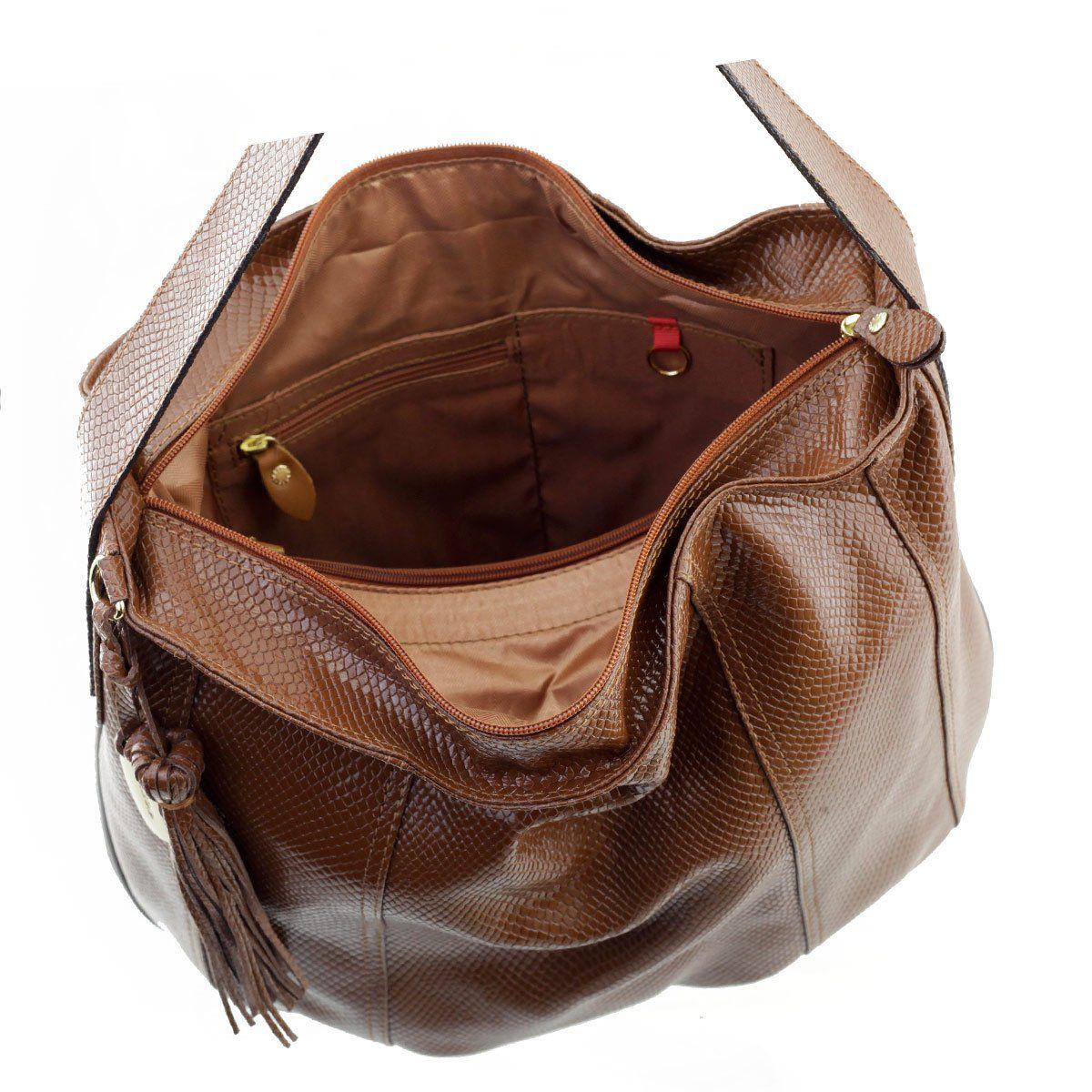 0c1915486 ... Bolsa Saco de Ombro Verniz Chocolate - ARZON ...