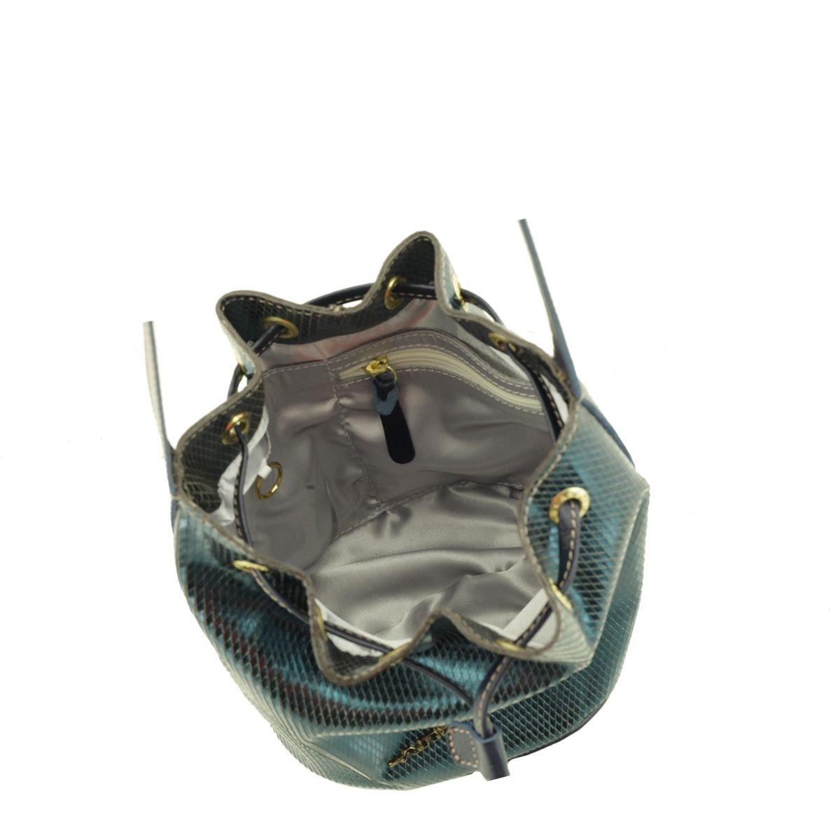 Bolsa Saco Pequena Azul Petróleo