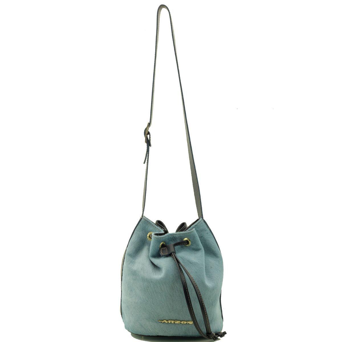 Bolsa Saco Pequena Pêlo Azul