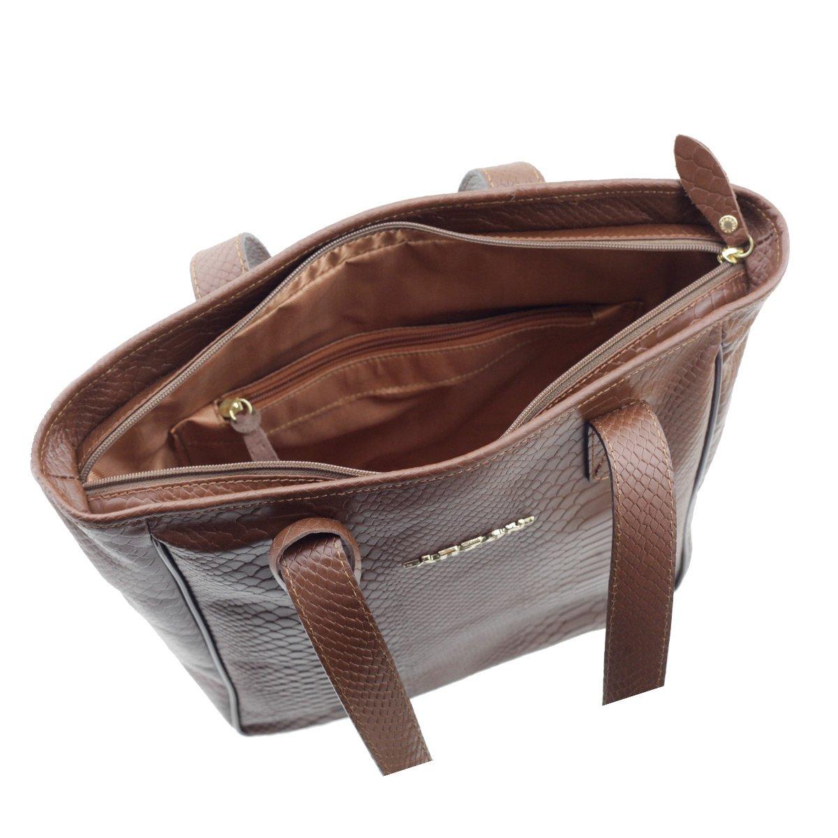 fb720463f ... Bolsa Sacola Couro Legítimo Chocolate - ARZON ...