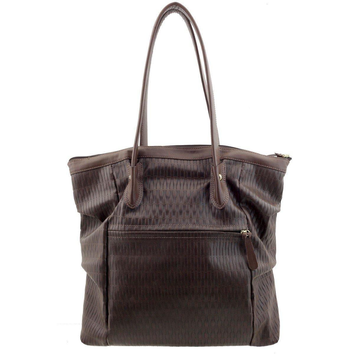 Bolsa Shopping Bag Couro Café