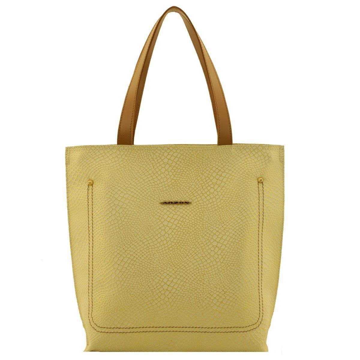 Bolsa Couro Verão Dourada