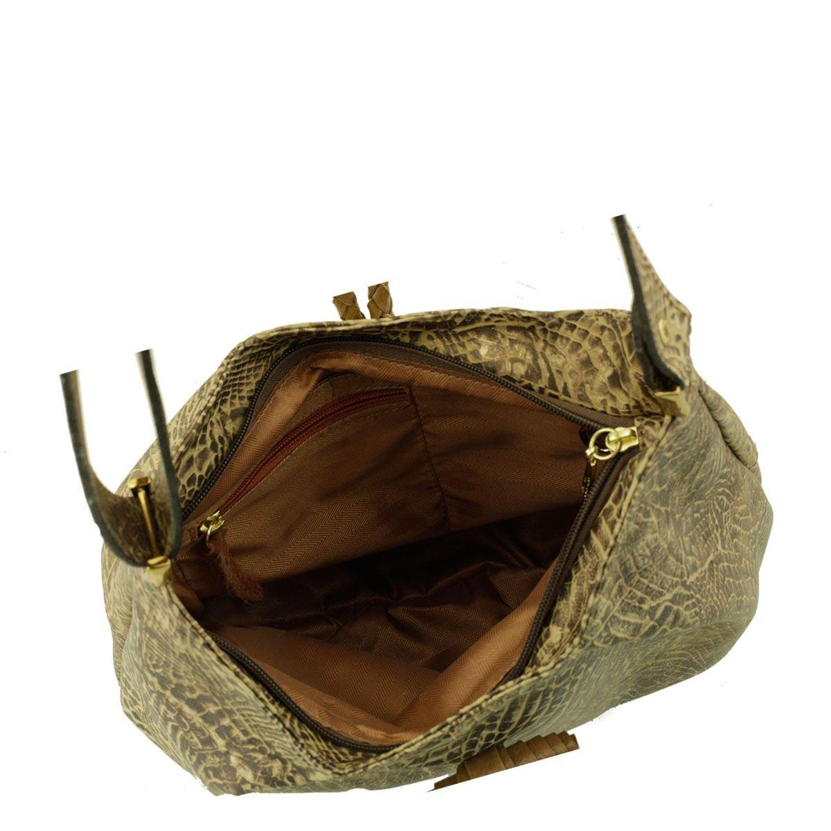 Bolsa Tiracolo com Pregas Bronze