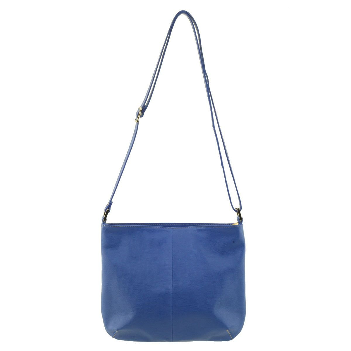 Bolsa Transversal Couro Azul