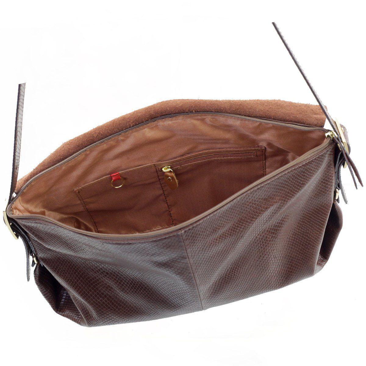Bolsa Transversal em Couro Chocolate