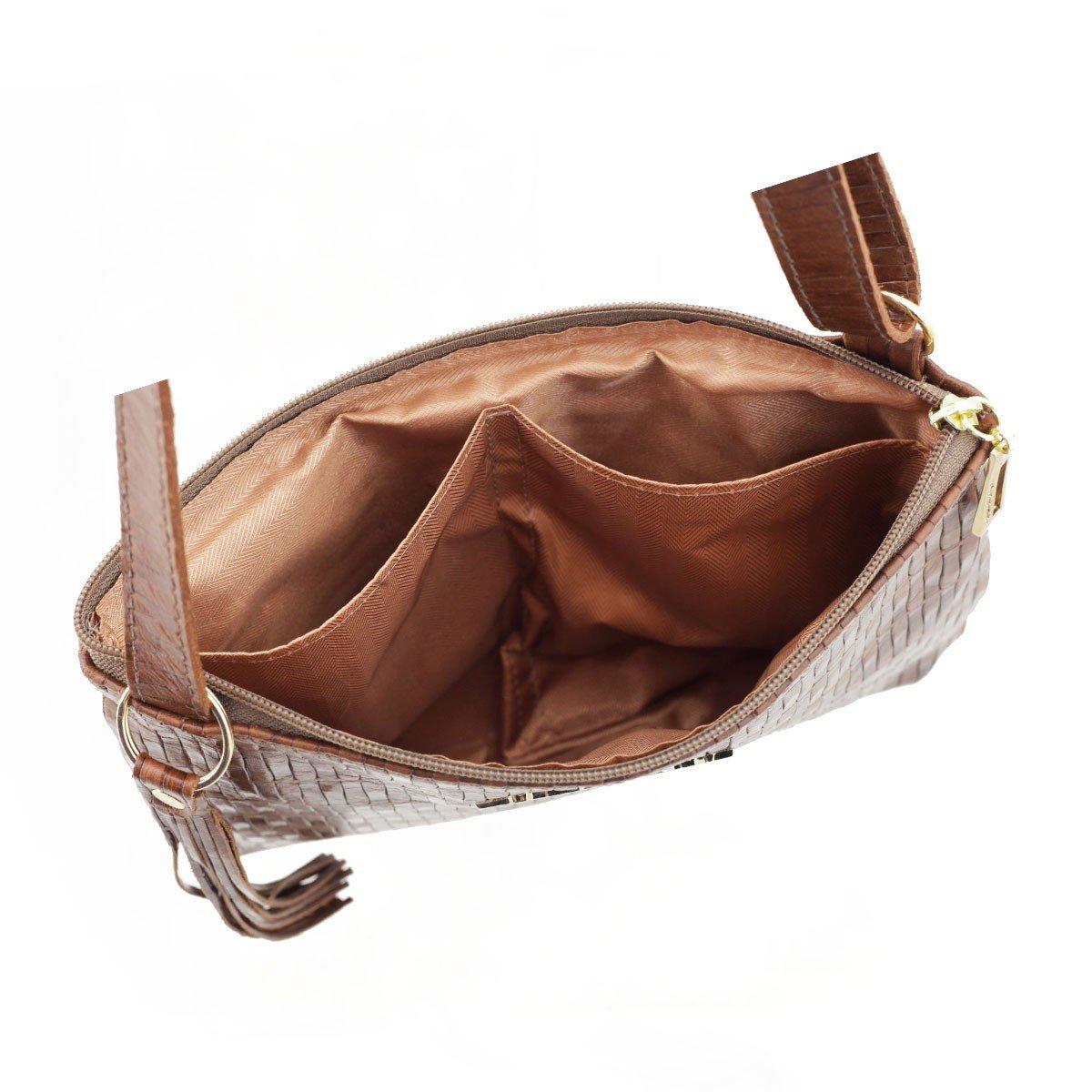 Bolsa Transversal Pequena Chocolate