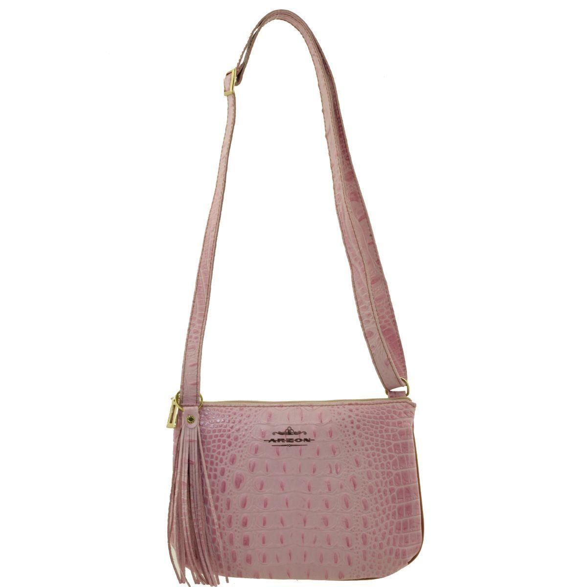 29d7712a1 Bolsa Transversal Pequena Rosa - ARZON ...