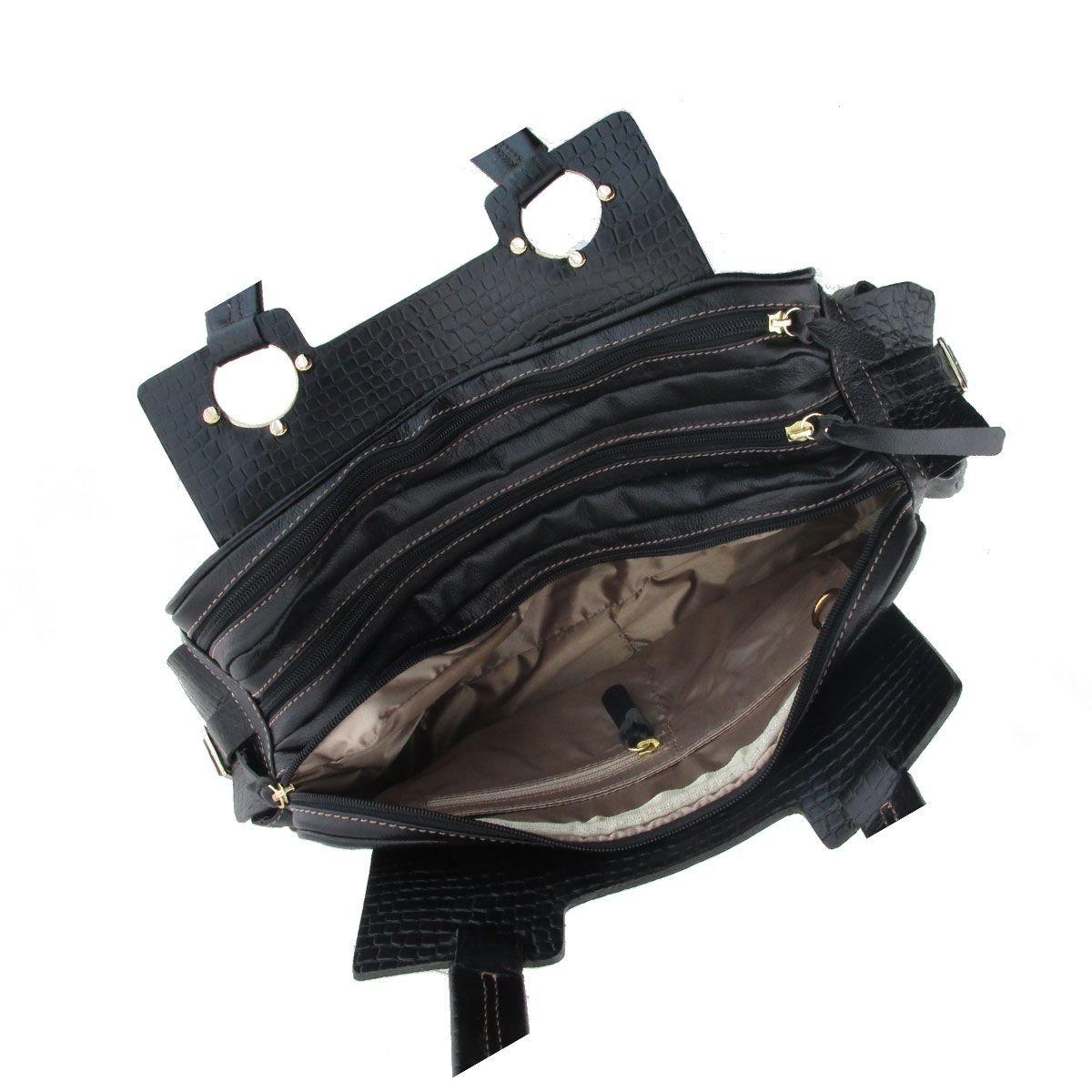 Bolsa Três Divisórias Black