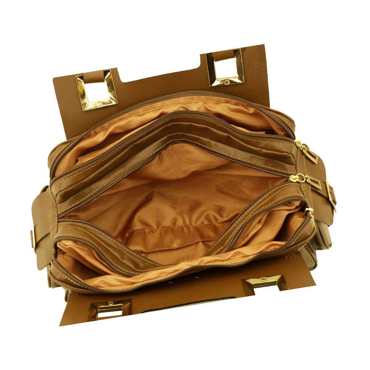 Bolsa Três Divisórias Chocolate