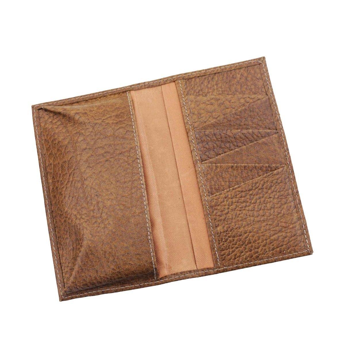 Carteira Porta-Celular em Couro Chocolate