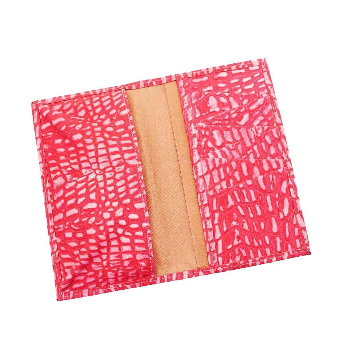 Carteira Porta-Celular em Couro Pink