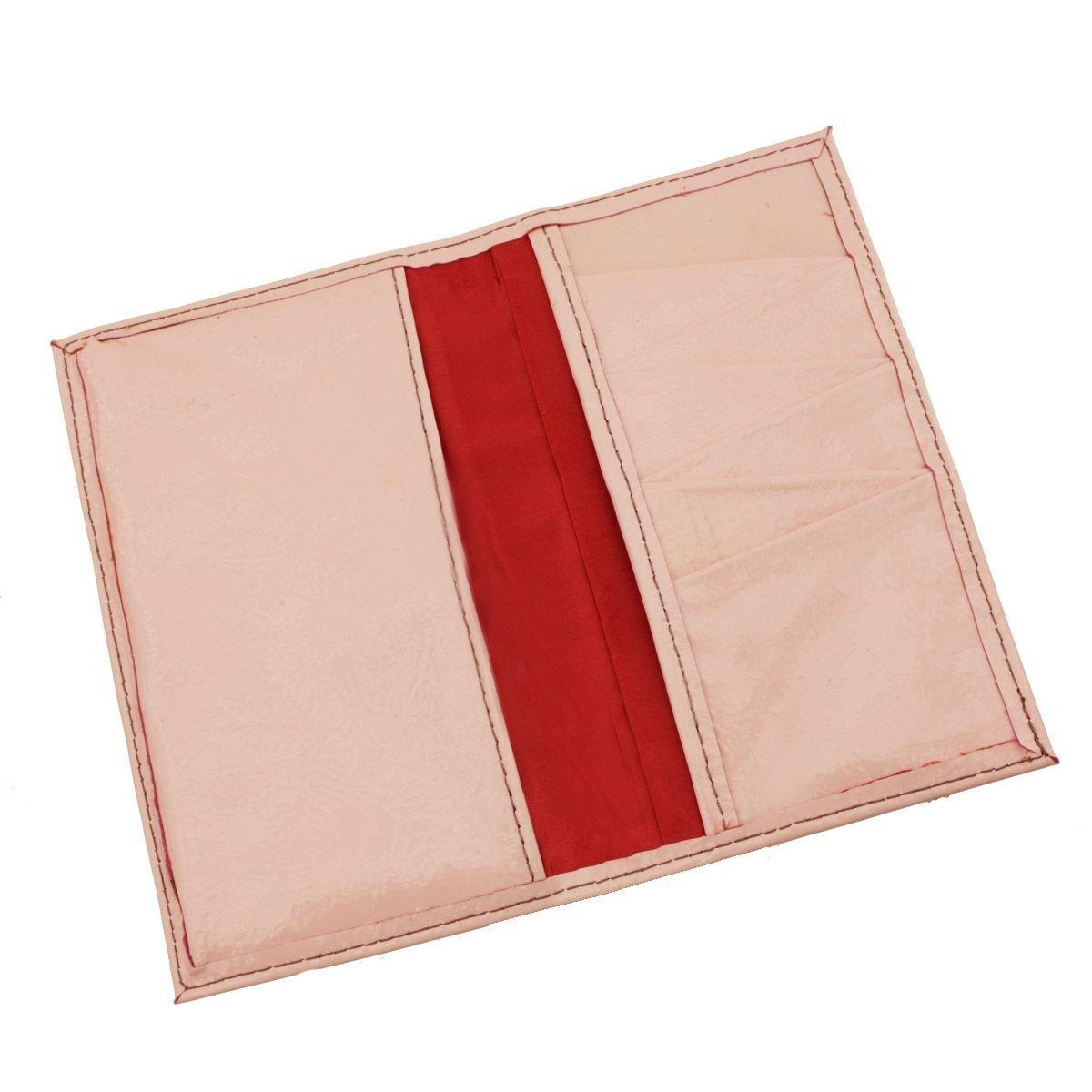 Carteira Porta-Celular em Couro Verniz Rosa