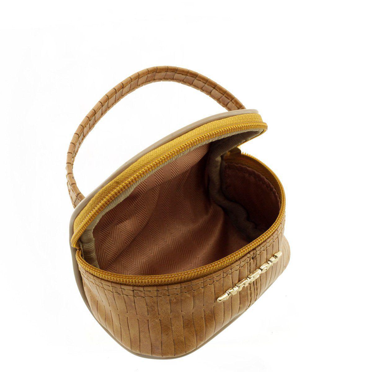 Mini Necessaire Tressê Caramelo